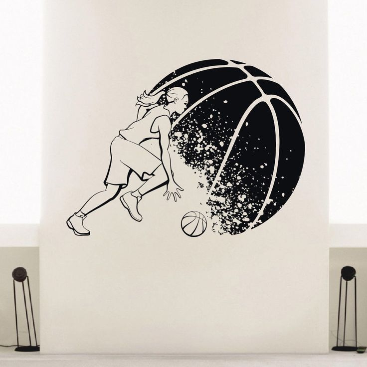 Vinyl Basketball Wall Decals For Girls U2013 Etsy