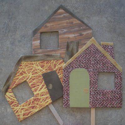 Maisons des 3 petits cochons