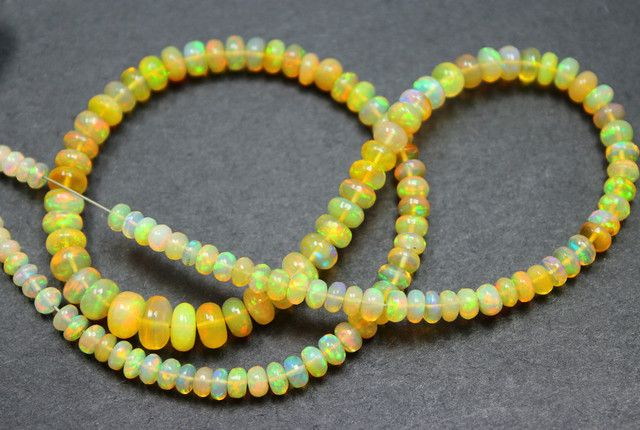 45 CTS ETHIOPIAN WELO 100% NATURAL OPALBEADS TOP COLORPLAY C316 ethiopian  opal beads, opal beads, opal necklaces