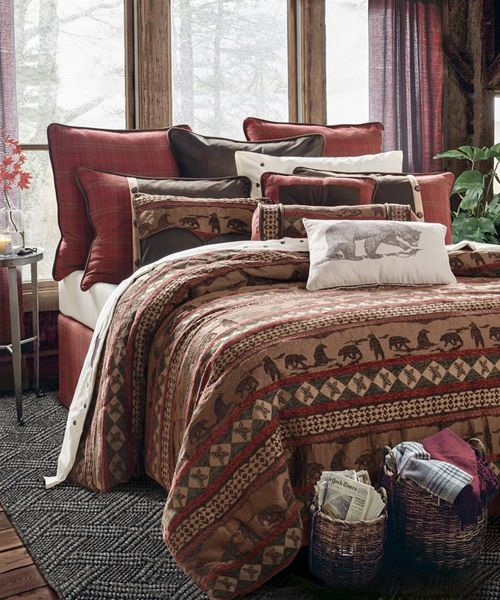 Cascade Lodge Bear Bedding The Cascade Lodge Collection Incorporates Rustic  Bear Silhouettes With Pinecone Accents And Geometric Elements On Warm  Chenille. Ideas