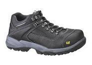 DIAGNOSTIC S3    Zapato de seguridad Caterpillar Diagnostic, de estilo deportivo.  Normativa de seguridad S3 . Puntera de seguridad incorporada y probada con impactos de 200J y una fuerza de compresión de 15 kN. Suela resistente de perforaciones probada a 1.100 newtons. Resistencia eléctrica entre el pie y el suelo entre 0,1 y 1.000 megohmios. Absorción de energía de la región de asiento probada a 20 julios. Piel de la parte superior resistente al agua. Suelas estriadas.