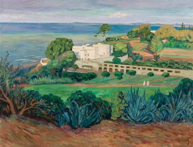 Peinture alg rie maurice bouviolle la villa des for Peinture satinee algerie prix