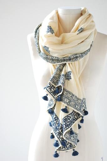 Matta :: Iraja Embroidered Stole -  Lake Boutique