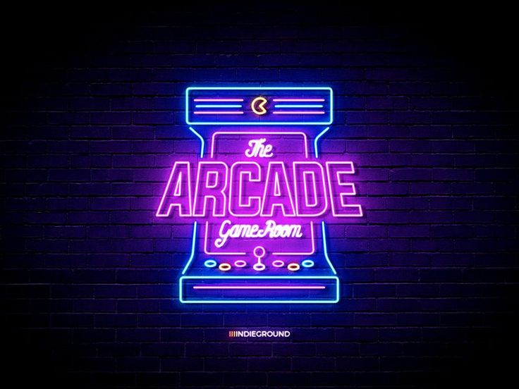 Neon Sign Effects for Photoshop – Arcade Game Room Neon Lights Retro Logos Effec…