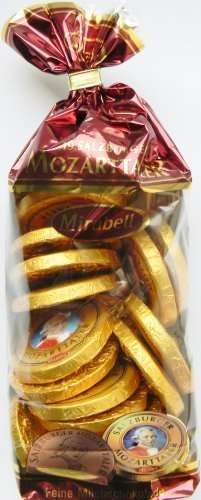 Mozart Coins Chocolate, 19 Pieces With Total 380 Grams, Mirabell Salzburg by Mirabell Mozart Kugeln, http://www.amazon.com/dp/B008EWQB68/ref=cm_sw_r_pi_dp_50purb0AKWT43