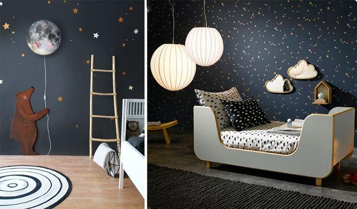 Per la cameretta dei bimbi puoi creare un cielo notturno o scenari fantastici con della pittura nera sui muri!