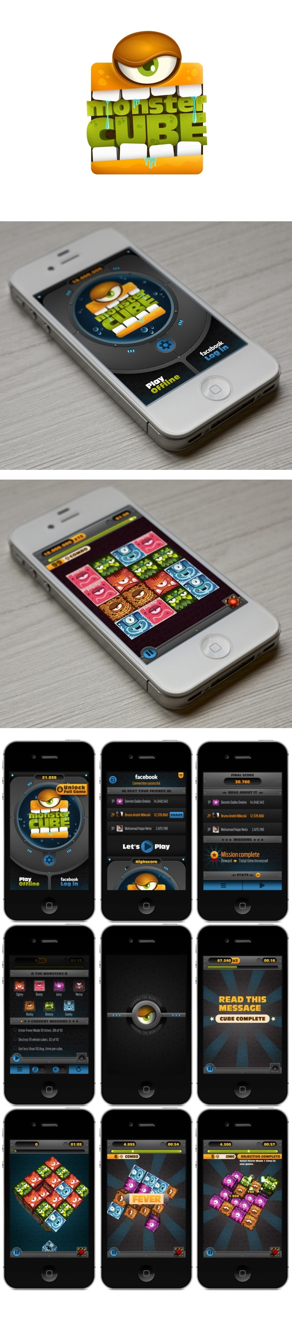 Monster Cube /game #ui #mobile