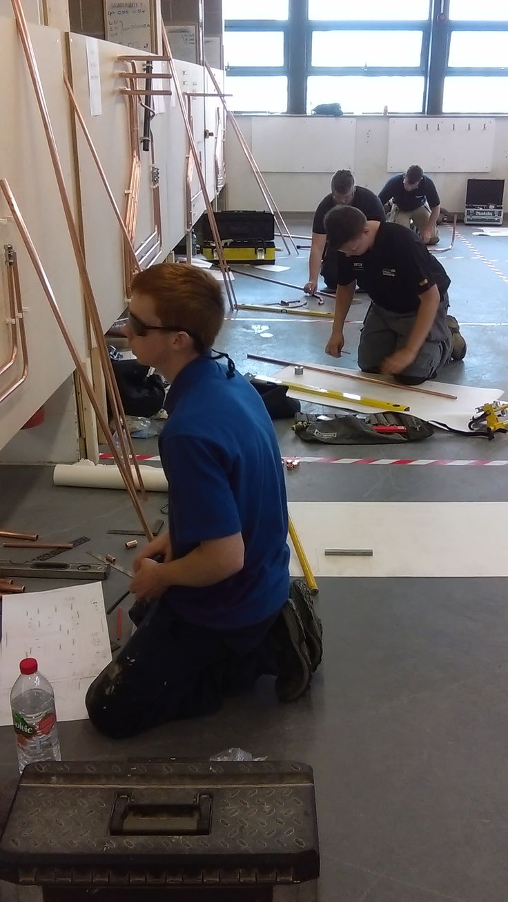 SkillPLUMB competition at Hartlepool College