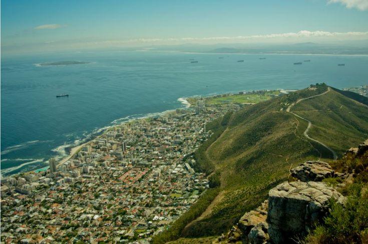 Utsikt från Lions head i Kapstaden #Cape #Town #Kapstaden #South #Africa #Sydafrika #Travel #Resa #Resmål #Afrika #Vacation #Semester #Adventure #Vandring #Äventyr #Lions #Head #LionsHead #View #Utsikt