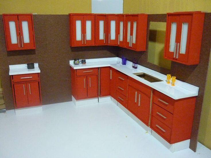 Como hacer una cocina para muñecas, alacenas.