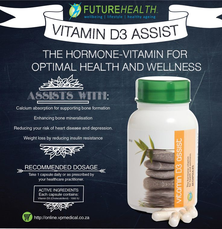 """""""Vitamin D3 Assist THE HORMONE-VITAMIN FOR OPTIMAL HEALTH AND WELLNESS """" Buy online and get 10% off http://online.vpmedical.co.za/index.php?route=product/category&path=64 supplements #minerals #futurehealthsa #proudlysouthafrican #antiAging #Fatigue #AntiOxidant #Cardio #Weightloss #holiday #smile #health #healthy #healthychoices"""