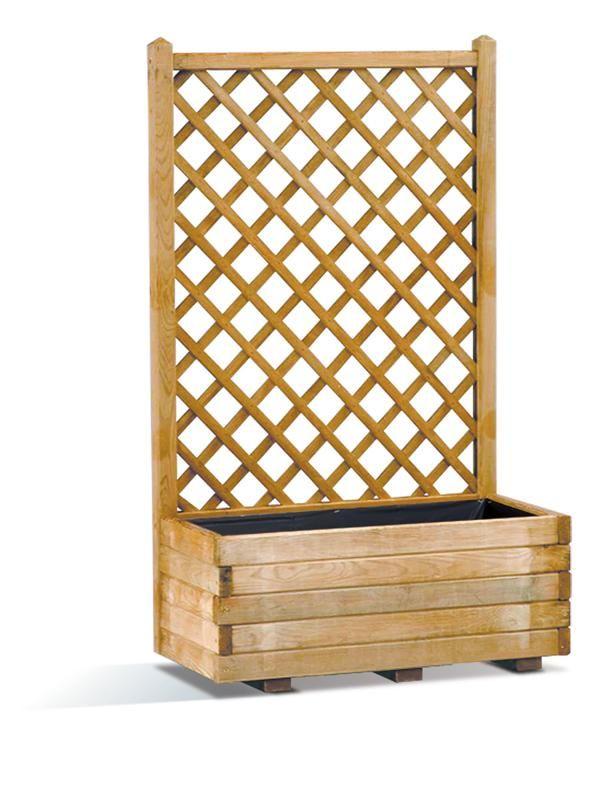 Arbor UK: Basique Lierre Wooden Trellis Planter (66 Litres) - front yard?