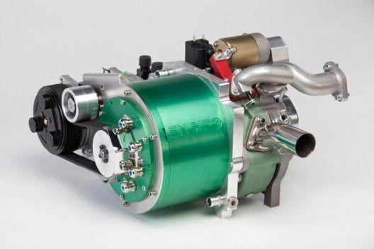 Engiro RE15-1 hybrid generator unit with Wankel engine on right, generator on left
