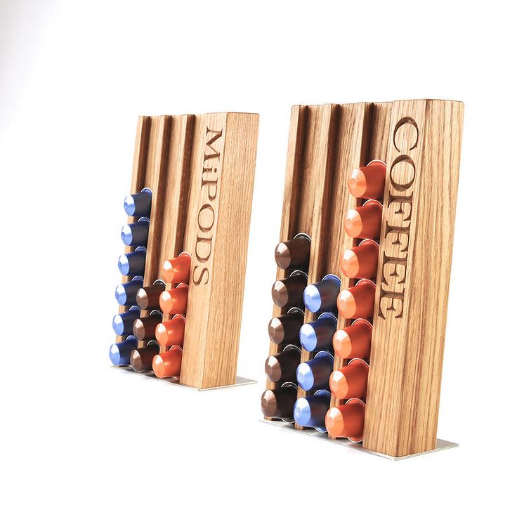 personalised oak coffee pod rack by the oak & rope company | notonthehighstreet.com