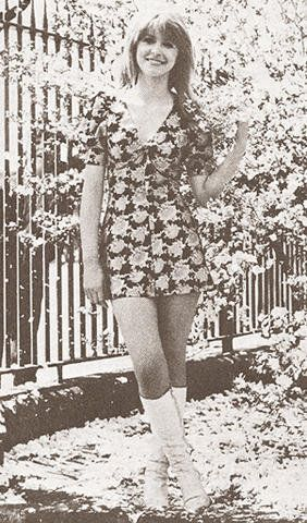 Jane Asher in white boots