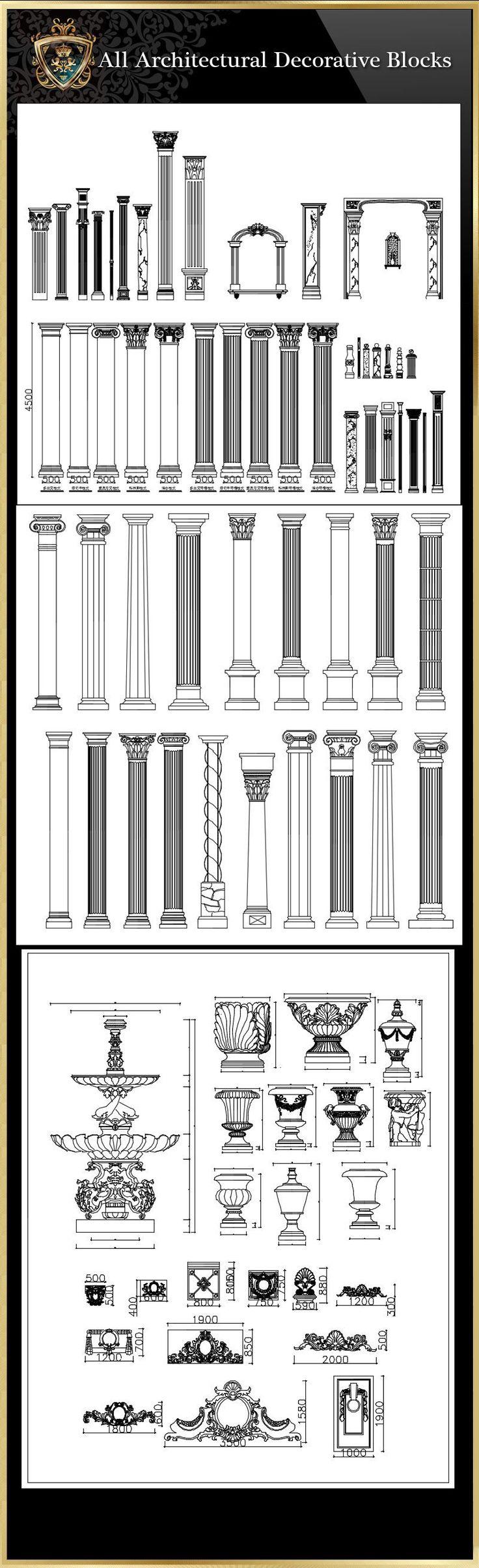 All architectural decorative blocks architecture decoration drawing decorative elements architecture decorationdrawing architecture decor
