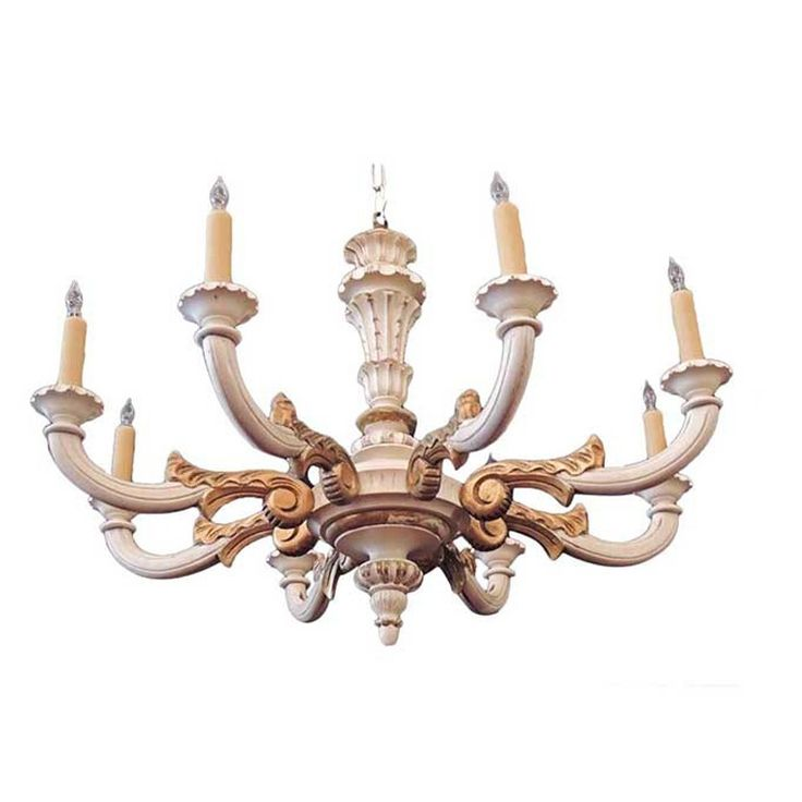 Italian 1920s Wood Carved Chandelier | See more antique and modern Chandeliers and Pendants  at http://www.1stdibs.com/furniture/lighting/chandeliers-pendant-lights