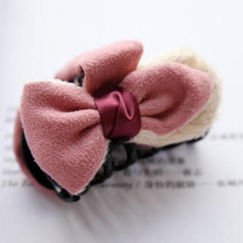 Bow-Accent Hair Clamp PInk - One Size