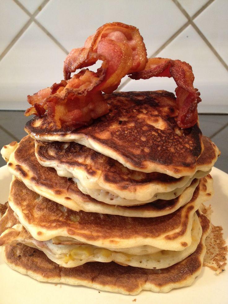 Majs og bacon pandekager