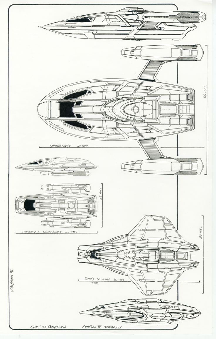 Star trek voyager spacecraft - Post 2 For 5 10 10 Ship Scales From Star Trek Insurrection