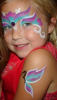 One stroke princess face and arm/body painting brandi menfi.