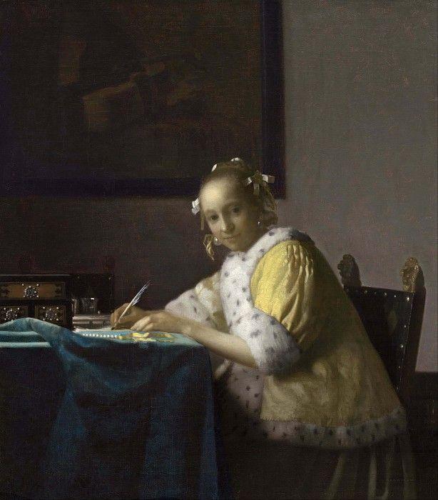 Дама, пишущая письмо. Ян Вермеер