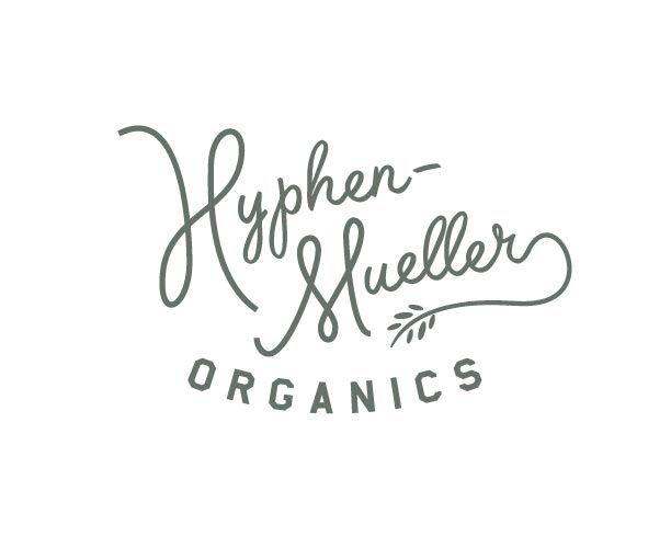 Hyphen Mueller OrganicsHyphen Muel Organic, Hyphen Mueller 2, Fonts Hyphen, Organic Design, Branding Identity, Hyphenmuel Organic, Logo Labels, Organic Logo, Mueller Organic