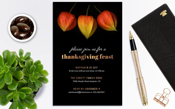 Thanksgiving Party Invitations, Thanksgiving dinner invite, Thanksgiving Invitations Editable, Thanksgiving Invitations Digital by PrintablesForEvents on Etsy