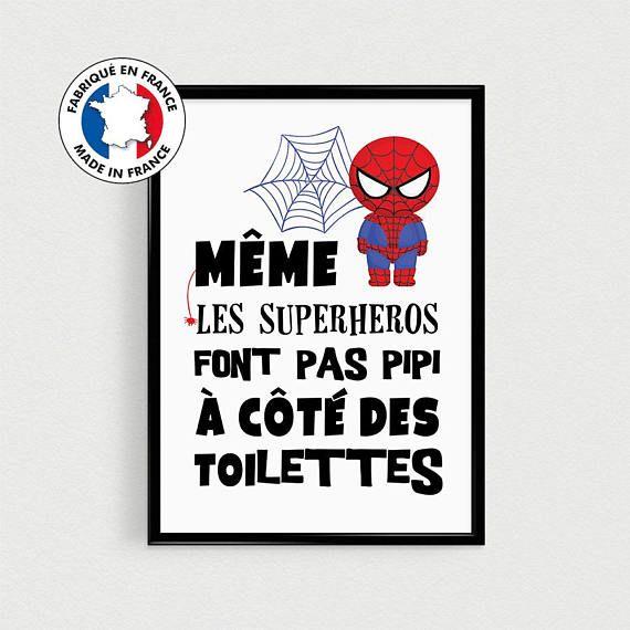 Poster super héros pour enfant Même les superhéros font
