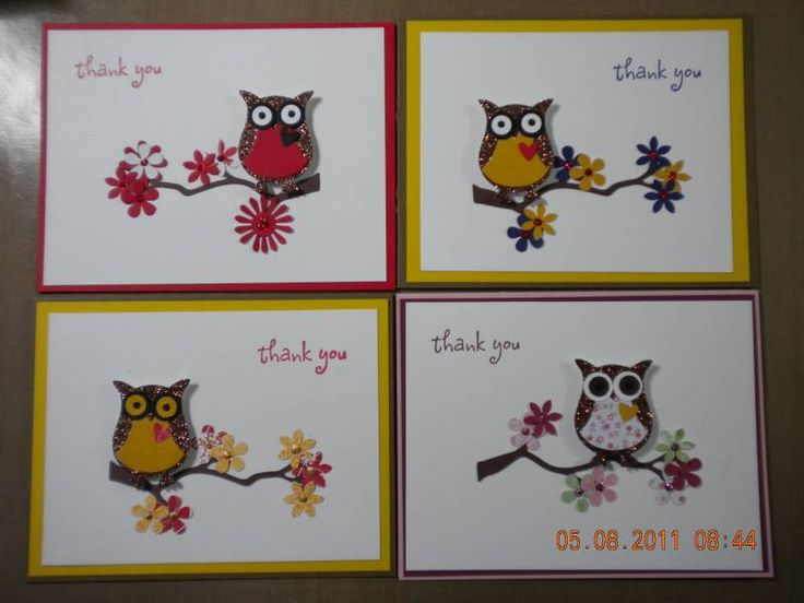 cute owls with glitter for feathers