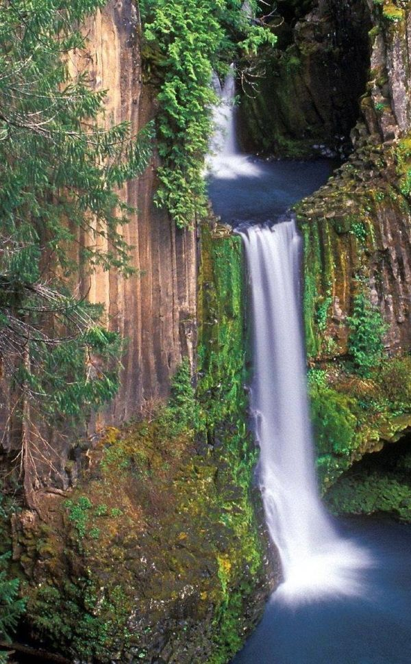 Toketee Falls - an ancient waterfall hidden in the Oregon woods by Eva0707