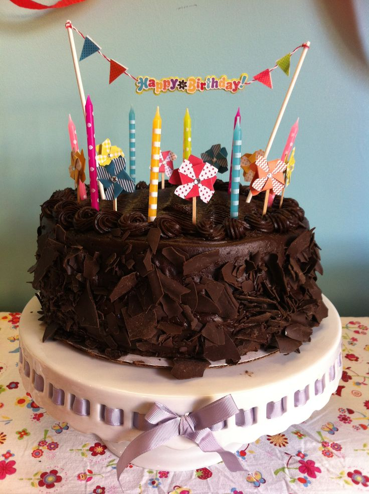Cake Decorated With Chocolate Sticks : Costco Chocolate Cake. I had to travel to the party place ...