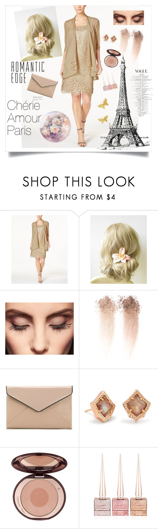 """""""Chérie"""" by aminiona ❤ liked on Polyvore featuring R & M Richards, Claire Evans, La Diva, Kendra Scott and Christian Louboutin"""