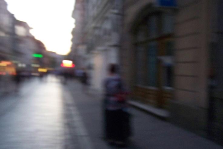 Woman With Bag at Szewska Street Cracow 28-04-2012 20.20