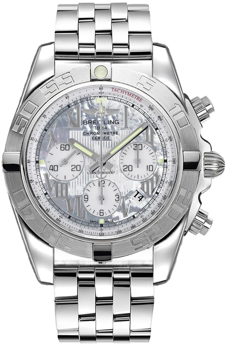 Breitling Chronomat 44 AB011011/A691-375A: AB011011|A691|375A NEW BREITLING CHRONOMAT 44 MEN'S WATCH FOR SALE IN STOCK - FREE Overnight…