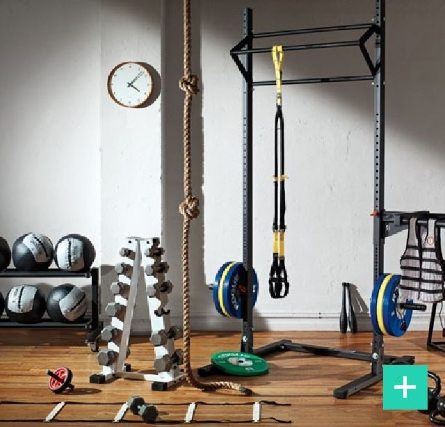 Set up your Home Gym with these #essentials #dumbells #Plyobox #exercise #garage #Fitness #DIY