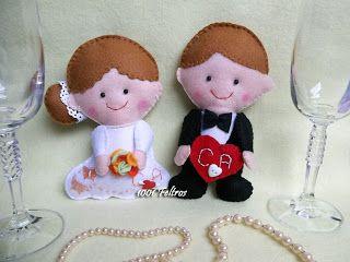 1001 Feltros: Noivinhos em feltro e lembrancinhas de casamento.....