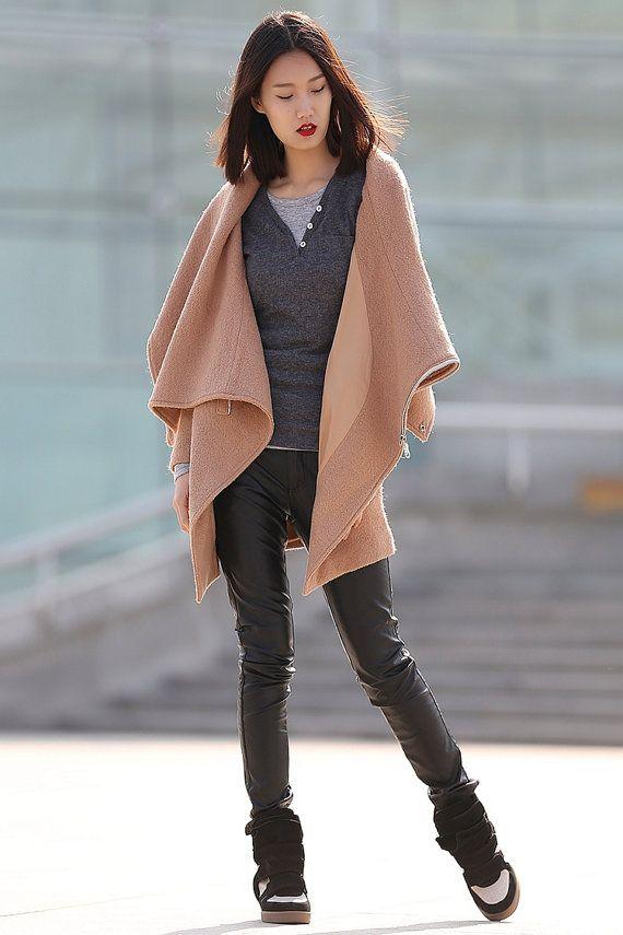 winter jackets for women brown wool coat-C176 от YL1dress на Etsy