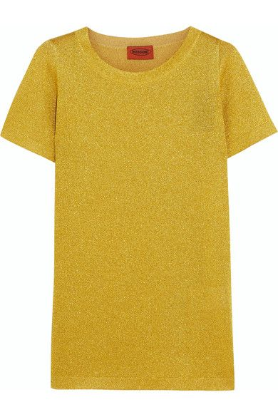 Missoni - Metallic Knitted Top - Yellow - IT50