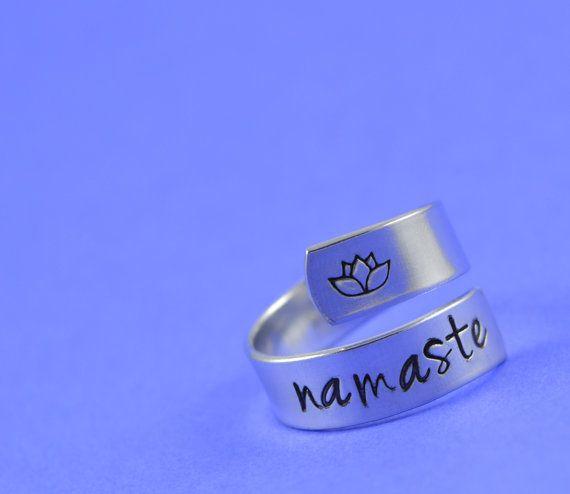 Namaste Wrap Ring Yoga by SilverStatements on Etsy