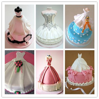 Bridal shower wedding dress cakes, ideas for how to choose wedding cake