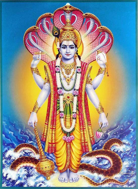 Top 5 Gada in Hindu Mythology (picture: Vishnu)