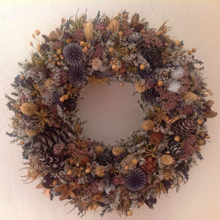 dried flowers wreath, naturalwreath