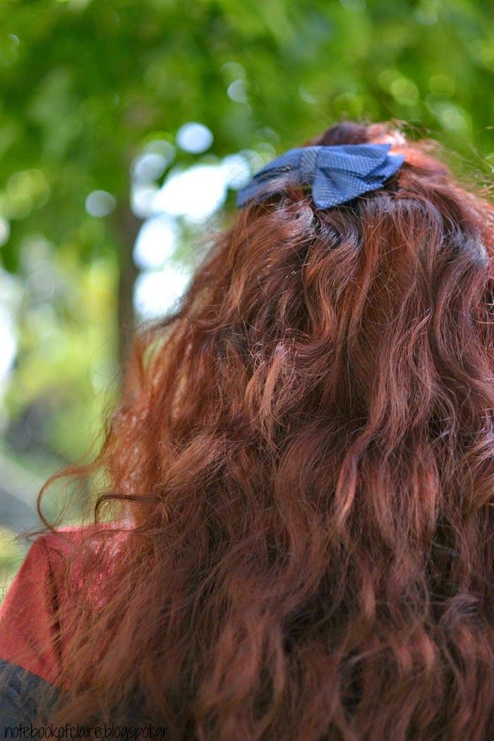 Notebook of Claire: Α morning outfit http://notebookofclaire.blogspot.gr/2014/05/morning-outfit.html  #fblogger #fashion #bow #curly #redhair