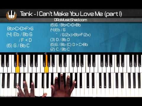 """How to play Tank """"I Cant Make You Love Me"""" (Part1) (Piano Tutorial) (Piano Cover)"""