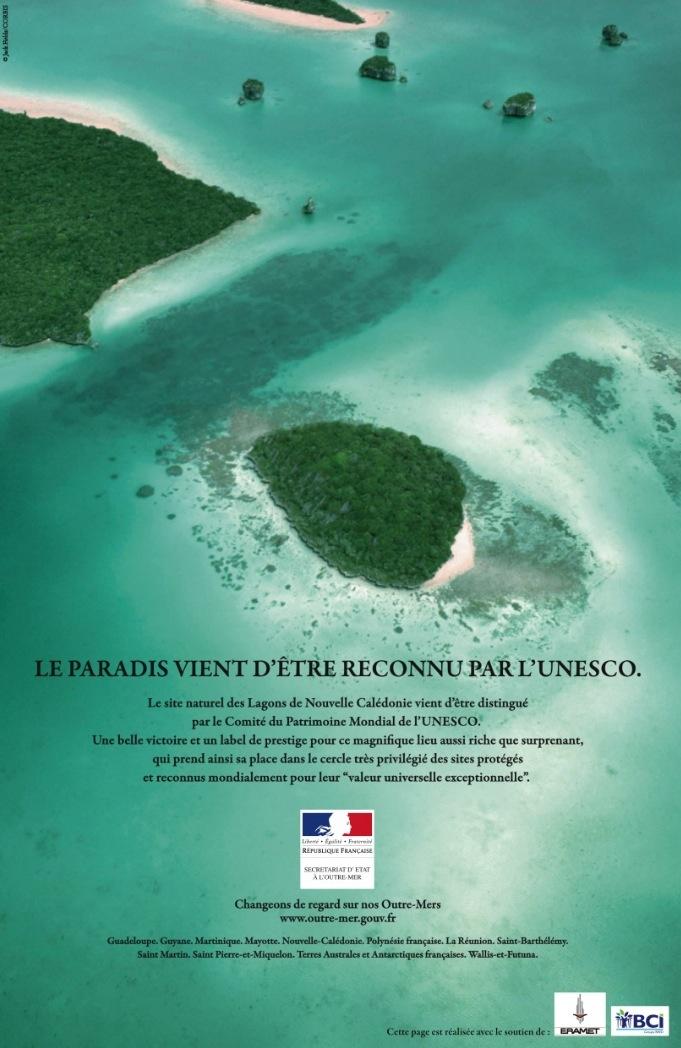 Secrétariat d'Etat à l'Outre-Mer - Le paradis - Le lagon