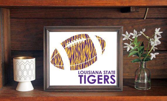 Louisiana State University LSU Tigers Football Print
