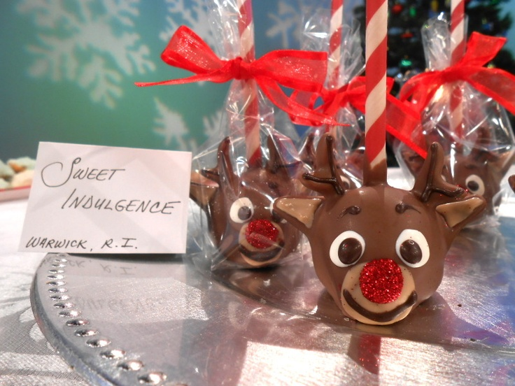 #Rudolph #CakePops by Sweet Indulgence, Warwick RI - www.mysweetindulgence.com - party planning with Bowties and Butterflies Event Planning