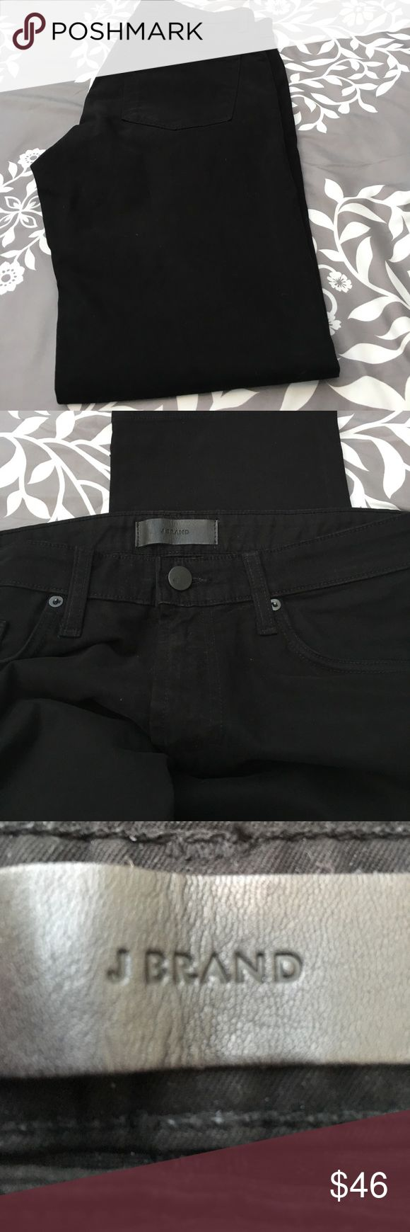 J brand jeans J Brand jeans, all black in color. Has pockets on the front and the back. In excellent condition. J Brand Jeans