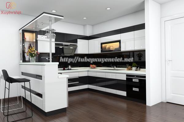 Phong bếp đep-Mẫu quầy bar trong bếp nhà anh Dũng - Thanh Xuân, Hà Nội